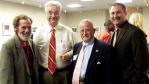 Panelists at the Delaware Press Association meeting September 19, 2010 were (from left): Walt Mateja; Mike Dixon; Gene Donelly; and Chris Carl