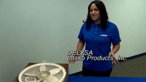 Delysa of Lasko explains how to assemble a pedestal fan