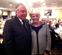 Sen. Jim Beach with Susan Love, founder and president of the Lauren Rose Albert Foundation, at the tribute dinner honoring Beach.