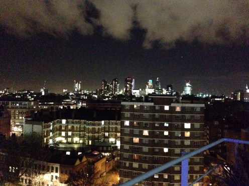 View from the roof terrace at work in the evening