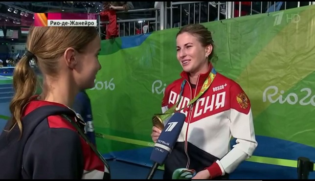 Deriglazova with gold medal