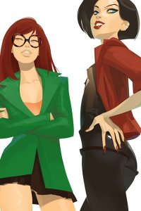 Daria Morgendorffer and Jane Lane all grown up and sexy.
