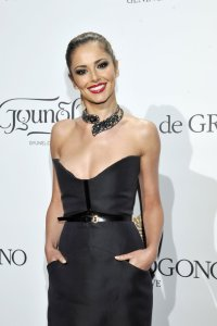 Cheryl Cole, a guest of de Grisogono's Fawaz Gruosi at the Fatale dinner at Hôtel du Cap-Eden-Roc, Antibes, May 20, 2014.