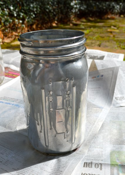 Outside Mason Jar