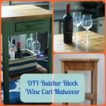 DIY Butcher Block Bar Cart