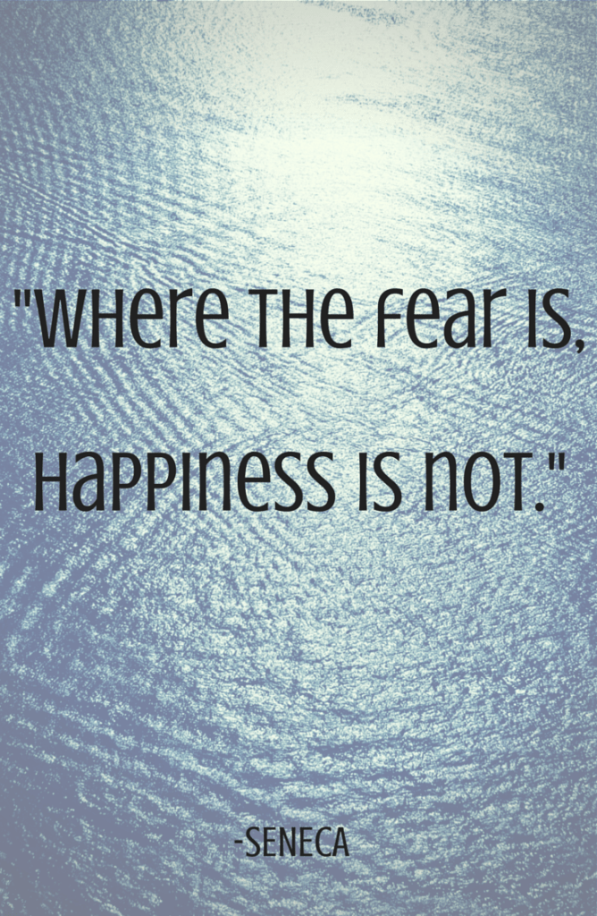 Where the fear is,happiness is not.