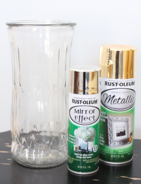 DIY Gold Mercury Glass