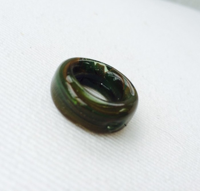 handmade glass ring