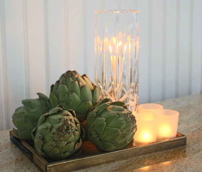 Glam Greens Centerpiece by LuckyScarf.com