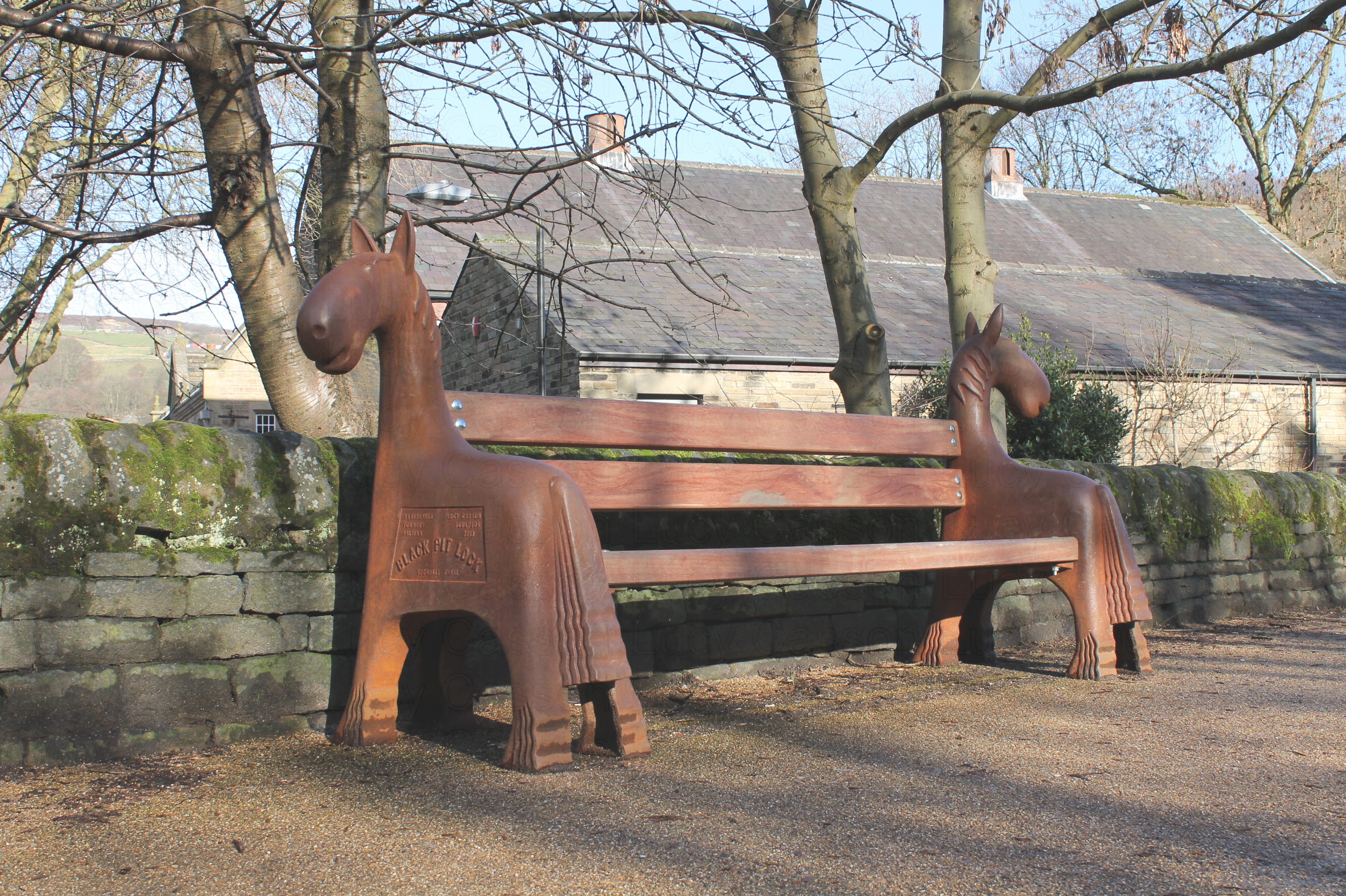 Cast Iron, Horse bench, Hebden bridge
