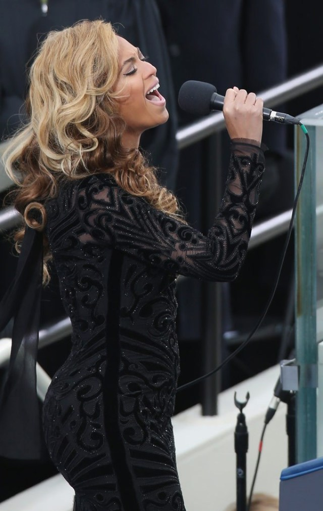 beyonce in emilio pucci at the inauguration