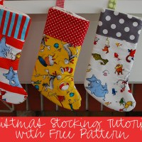 Sewing Tutorial with Free Pattern: DIY Christmas Stockings