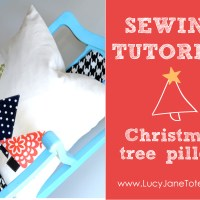 Christmas Pillow Tutorial (step by step directions)