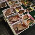 Fish for sale at Nishiki Market in Kyoto