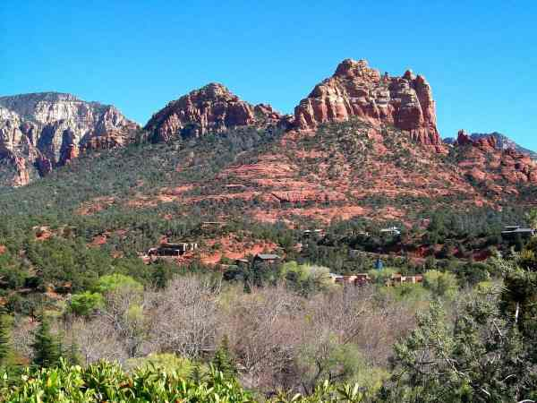 The red rock buttes in Sedona's landscape