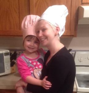 Jaime and her daughter Kayla. Who's head chef and who's sous chef?