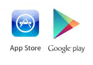 Lojas mais populares da atualidade onde baixam-se aplicativos para tablets e smartphones.