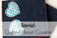 quilted heart coaster feature page