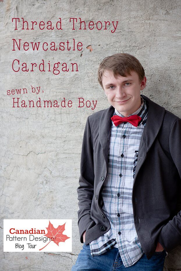 Thread Theory Newcastle Cardigan pattern sewn by Handmade Boy