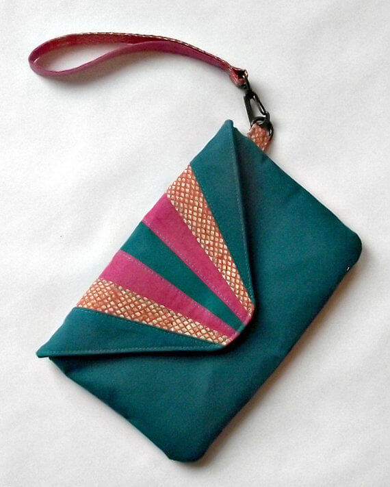Sunburst clutch from FABulous Home Sewn
