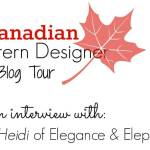 Canadian Pattern Designer blog tour: Interview with Elegance & Elephants