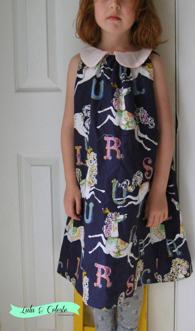 Sweet Pea dress pattern by Rabbit Rabbit Creations sewn by Lulu & Celeste