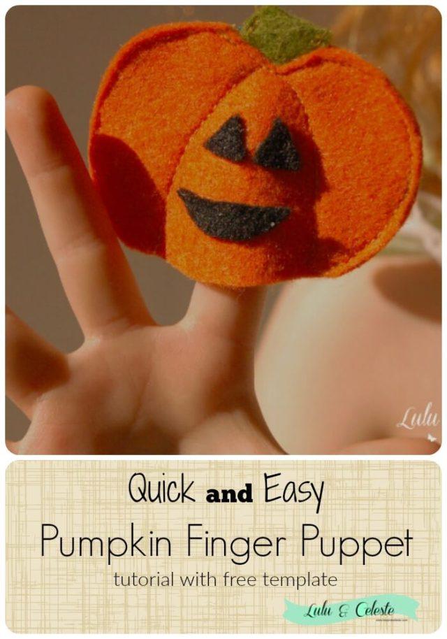 Pumpkin Finger Puppet tutorial with free template