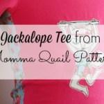 Jackalope tee by Momma Quail Patterns