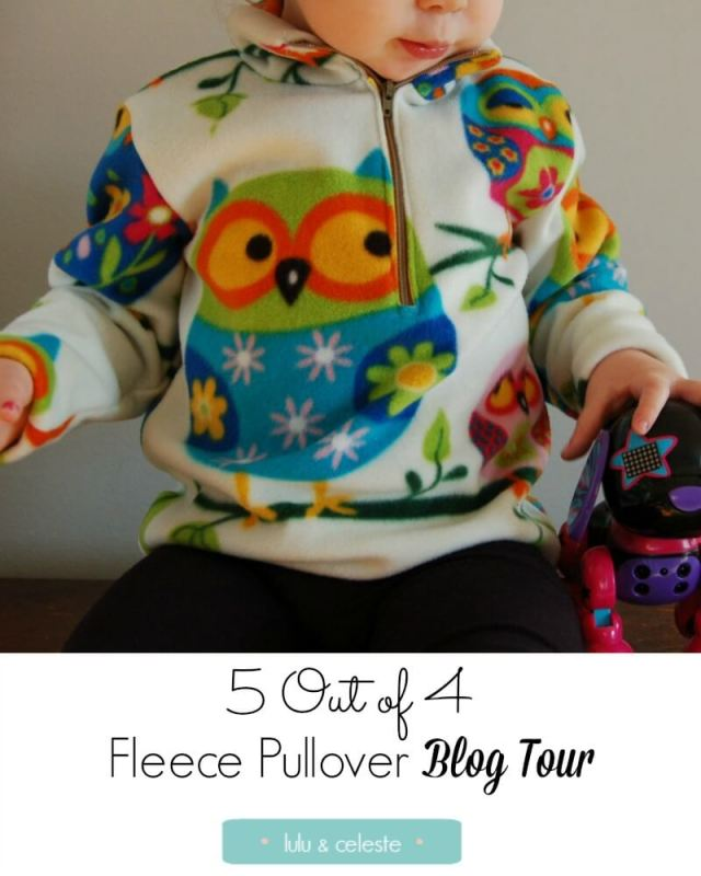 5 Out of 4 Fleece Pullover sewn by Lulu & Celeste