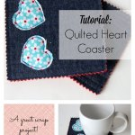 Quilted Heart Coaster Tutorial