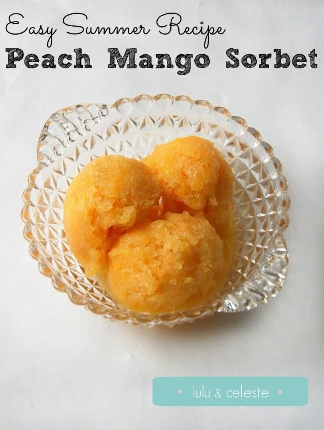 Peach Mango Sorbet