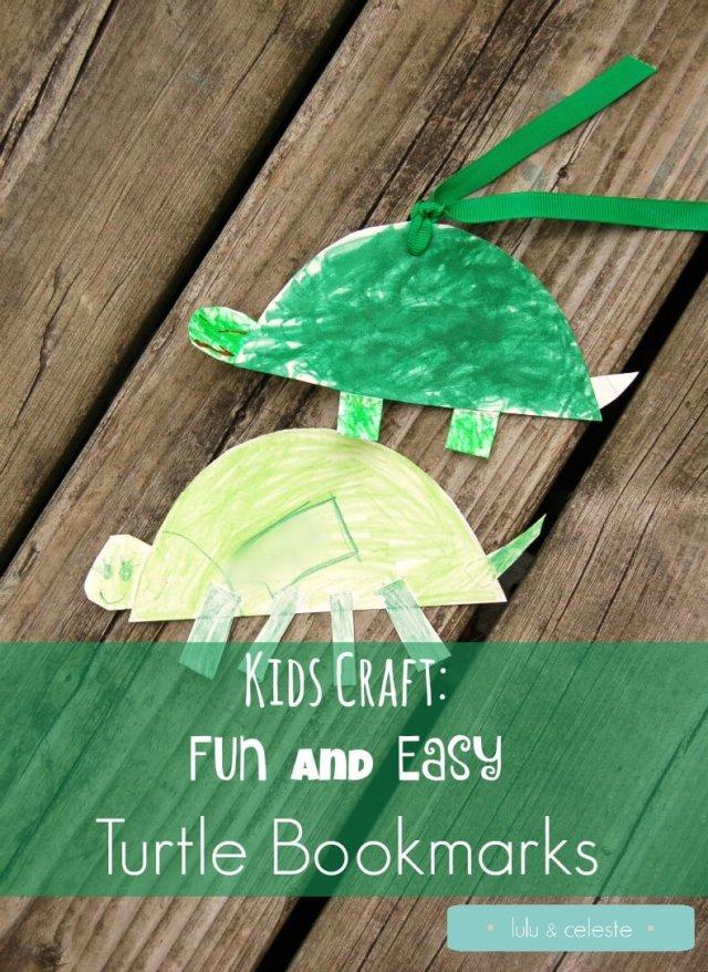 Kids Craft Turtle Bookmarks