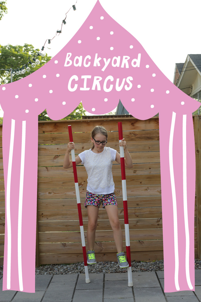 homemade stilts circus