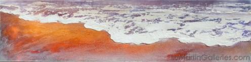 """Sensational Sea"" 12x48 in. acrylic, sand, resin"