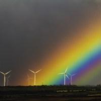 Fine Coffee, Wind Turbines & Rainbow