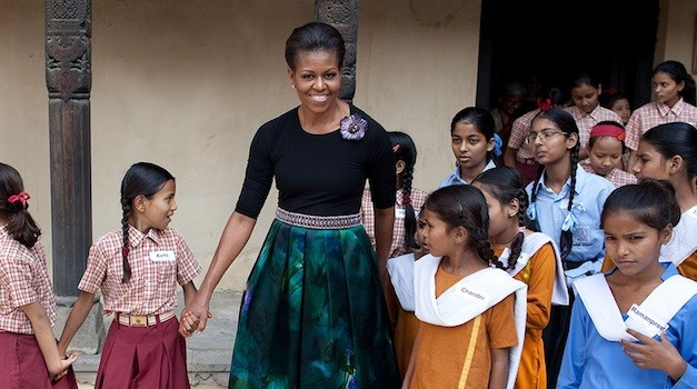 Michelle Obama Promotes Global Girls' Education in Qatar and Jordan