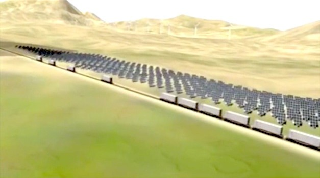 How this Train Revolutionizes Ability to Store Renewable Energy
