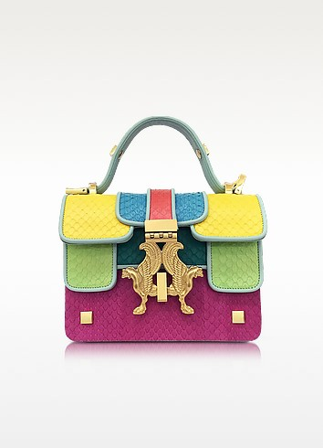 Giancarlo Pertiglia Pop Color-Block Elaphe Leather Mini P Bag