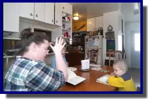 Video – Mom leads young children in closing of daily devotions – Creed, Lord's Prayer, Reading, and Morning Prayer