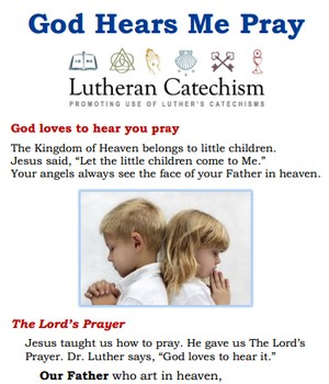 God Hears Me Pray -- Free Prayer Folder for Children