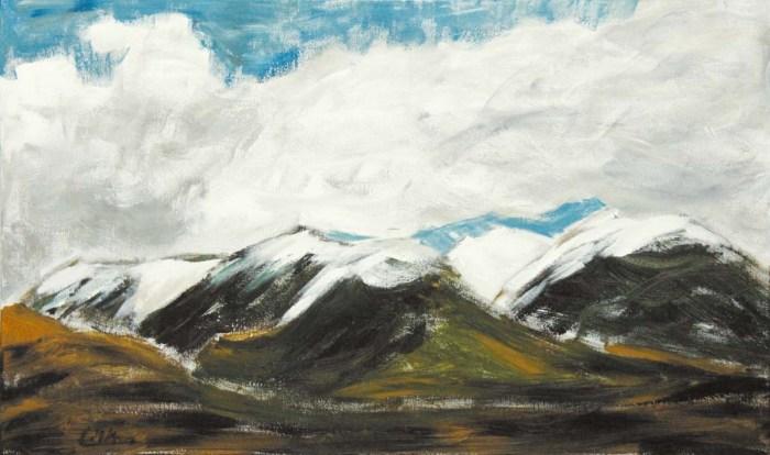 Gebirgszug in Tibet
