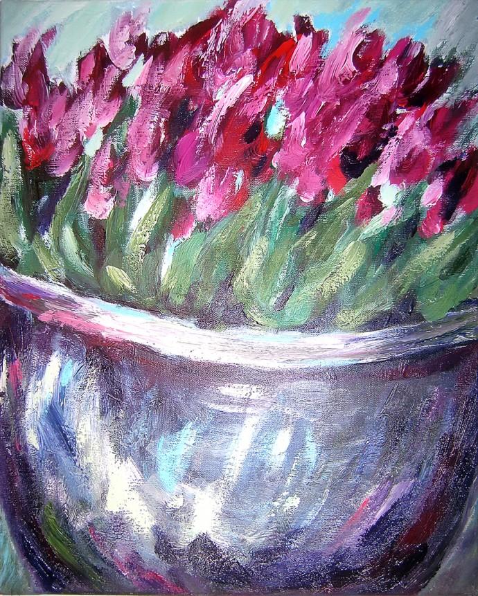 Tulpen im Topf