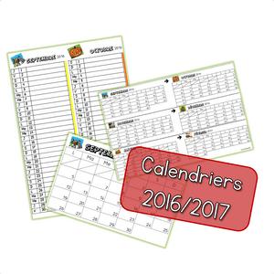 calendrier 2016-2017 - démo