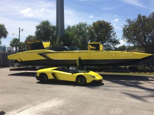 """Lamborghini Aventador LP 720-4 """"50 Anniversario Edition"""" in A Boat Version"""