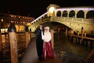Masquerading at Carnevale, Venice, Italy