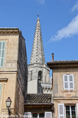 The spire of Saint-Martin Church