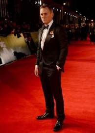 The protagonist of the evening, actor Daniel Craig, who played James Bond for the fourth time