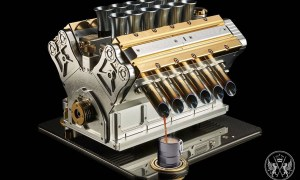 Engine-Inspired Espresso Veloce Aurum 18ct Coffee Machine