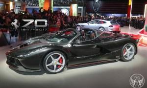 Ferrari LaFerrari Aperta Dazzles at the Paris International Motor Show