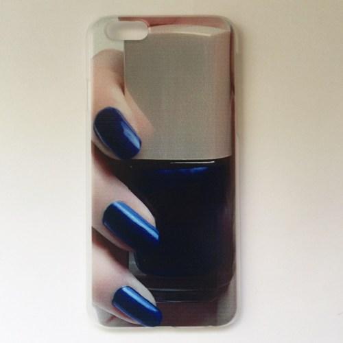 nail polish iphone case blue